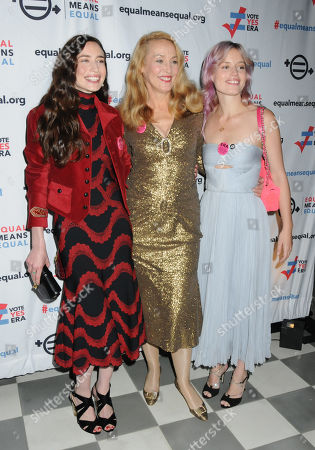 """Elizabeth """"Lizzy"""" Jagger, Jerry Hall and Georgia May Jagger"""