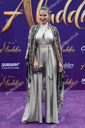 Nadine Velazquez poses on the red carpet during Disney's 'Aladdin' movie premiere at the El Capitan Theatre in Hollywood, California, USA, 21 May 2019. The movie opens in US theaters on 24 May 2019.