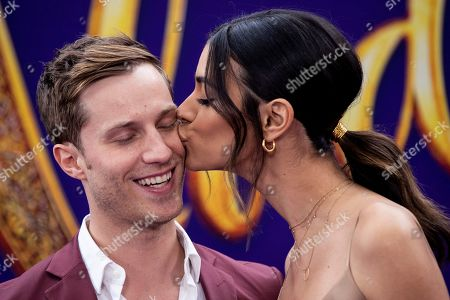 Actress Laysla De Oliveira (R) and US actor Jonathan Keltz (L) pose on the red carpet during Disney's 'Aladdin' movie premiere at the El Capitan Theatre in Hollywood, California, USA, 21 May 2019. The movie opens in US theaters on 24 May 2019.