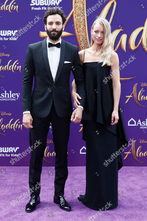 Marwan Kenzari (L) and Nora Ponse (R) pose on the red carpet during Disney's 'Aladdin' movie premiere at the El Capitan Theatre in Hollywood, California, USA, 21 May 2019. The movie opens in US theaters on 24 May 2019.