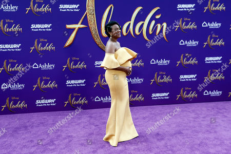 Stock Picture of Tatyana Ali poses on the red carpet during Disney's 'Aladdin' movie premiere at the El Capitan Theatre in Hollywood, California, USA, 21 May 2019. The movie opens in US theaters on 24 May 2019.