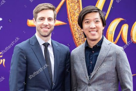 Producers Jonathan Eirich (L) and Dan Lin (R) pose on the red carpet during Disney's 'Aladdin' movie premiere at the El Capitan Theatre in Hollywood, California, USA, 21 May 2019. The movie opens in US theaters on 24 May 2019.