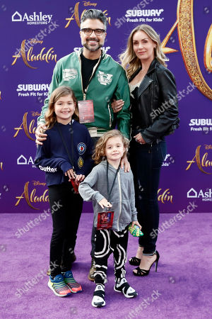 Jaime Camil (2-L) and his family pose on the red carpet during Disney's 'Aladdin' movie premiere at the El Capitan Theatre in Hollywood, California, USA, 21 May 2019. The movie opens in US theaters on 24 May 2019.