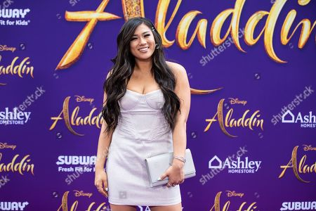 Remi Cruz poses on the red carpet during Disney's 'Aladdin' movie premiere at the El Capitan Theatre in Hollywood, California, USA, 21 May 2019. The movie opens in US theaters on 24 May 2019.