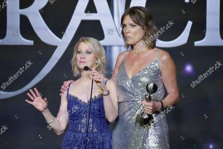Andrea Kremer, Hannah Storm. Andrea Kremer and Hannah Storm are honored during the 44th Annual Gracie Awards at the Beverly Wilshire Hotel, in Beverly Hills, Calif