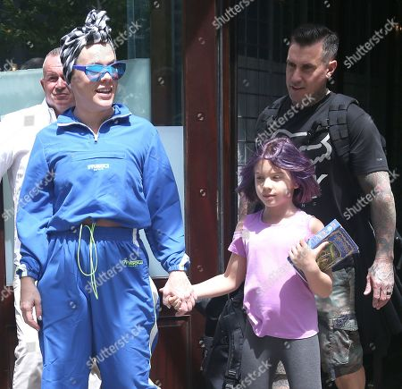 Stock Photo of Pink, Carey Hart with daughter Willow Sage Hart
