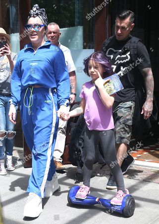 Editorial image of Pink and Carey Hart out and about, New York, USA - 21 May 2019