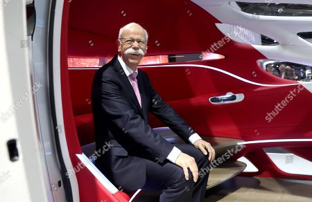 Daimler AG CEO Dieter Zetsche sits in a car during the Daimler AG annual general meeting (AGM) in Berlin, Germany, 22 May 2019. Daimler shareholders are gathering for the annual shareholders' meeting.