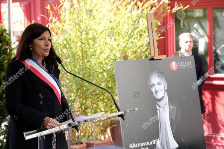 Anne Hidalgo, the Mayor of Paris, delivered a speech.