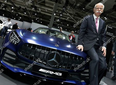 Daimler CEO Dieter Zetsche poses prior to the annual shareholder meeting of the car manufacturer Daimler in Berlin, Germany