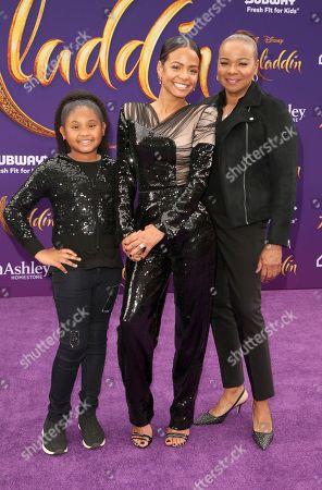 Stock Photo of Violet Madison Nash, Christina Milian, Carmen Milian