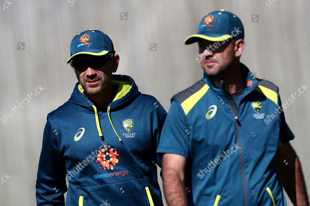 Australia Head Coach Justin Langer and Ricky Ponting.