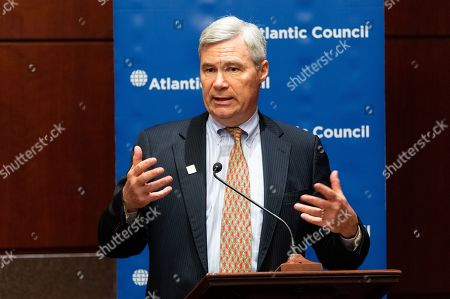 "U.S. Senator Sheldon Whitehouse (D-RI) speaking at the Atlantic Council event ""US Nuclear Energy Leadership: Innovation and the Strategic Global Challenge"" at the Senate Visitor Center"