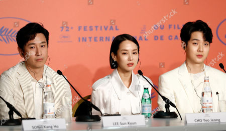 Parasite press conference 72nd Cannes Film Festival Stock