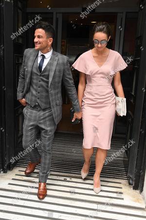 Peter Andre and Emily MacDonagh at BBC studios