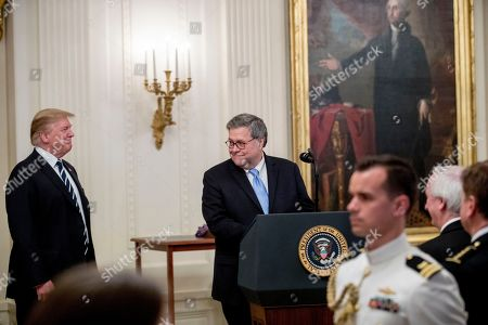 President Trump and William Barr at Officer Medal of Valor ceremony, Washington DC