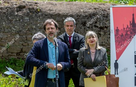 Deputy Mayor of Rome Luca Bergamo at a press conference for the inauguration of the Circus Massimo Experience.