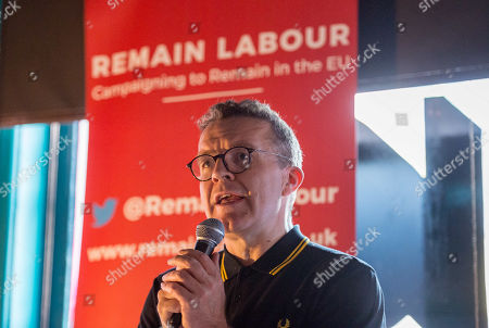 Tom Watson, Deputy Leader of the Labour Party, at a Remain Labour rally at the The Love Inn on Stokes Croft organised by the Remain Labour group as part of campaigning in the elections for the European Parliament. Speakers included Paul Mason and MEP south west England candidates Clare Moody and Andrew Adonis.