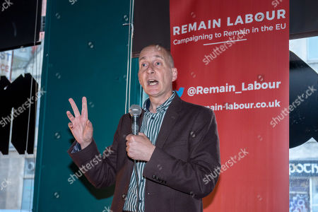Andrew Adonis, Labour's no.2 MEP candidate for south west England, speaks at a Remain Labour rally at the The Love Inn on Stokes Croft organised by the Remain Labour group as part of campaigning in the elections for the European Parliament. Speakers included Labour's Deputy Leader Tom Watson, Paul Mason and MEP south west England candidates Clare Moody and Andrew Adonis.