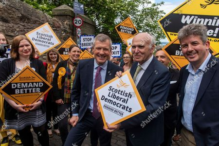 Scottish Liberal Democrat leader, Willie Rennie was joined by Lib Dem leader Vince Cable in Edinburgh ahead of the European elections tomorrow
