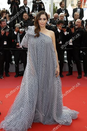 Nabilla Benattia arrives for the screening of 'Roubaix, une lumiere' (Oh Mercy!) during the 72nd annual Cannes Film Festival, in Cannes, France, 22 May 2019. The movie is presented in the Official Competition of the festival which runs from 14 to 25 May.