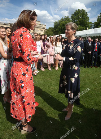 Sophie Countess of Wessex with Dame Darcey Bussell during Prince Philip Gold Award presentations in the Buckingham Palace garden
