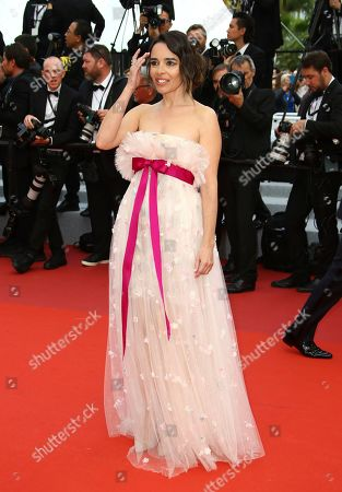 Elodie Bouchez poses for photographers upon arrival at the premiere of the film 'Oh Mercy' at the 72nd international film festival, Cannes, southern France