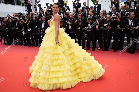 Fernanda Liz poses for photographers upon arrival at the premiere of the film 'Oh Mercy' at the 72nd international film festival, Cannes, southern France