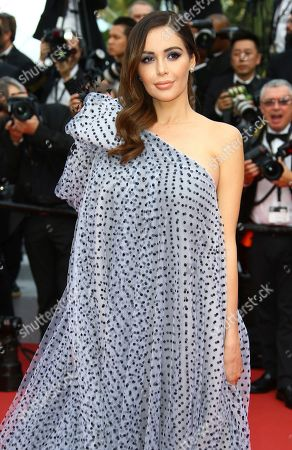 Nabilla Benattia poses for photographers upon arrival at the premiere of the film 'Oh Mercy' at the 72nd international film festival, Cannes, southern France