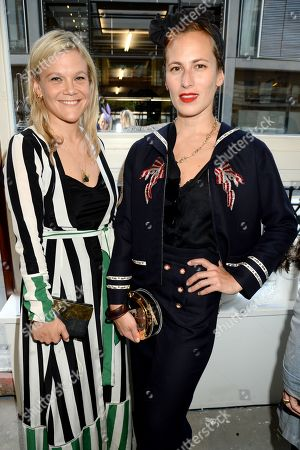 Charlotte Dellal (right) and guest