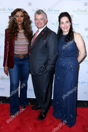 Iman, William P. Lauder and Fatima Shama