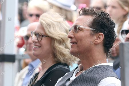 Kathleen Finch, Matthew McConaughey. Kathleen Finch, left, and Matthew McConaughey attend a ceremony honoring Guy Fieri with a star at the Hollywood Walk of Fame, in Los Angeles