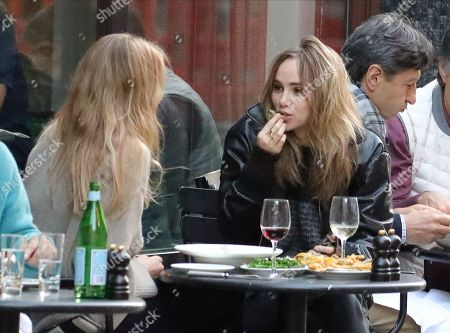 Editorial photo of Suki Waterhouse and Lily Donaldson out and about, London, UK - 22 May 2019
