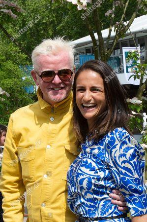 Stock Image of Chris Evans and wife Natasha Evans