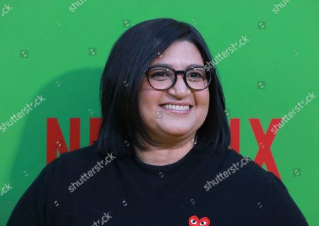 """Nahnatchka Khan arrives at the premiere of """"Always Be My Maybe"""", at the Regency Village Theatre in Los Angeles"""
