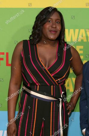 """Naomi Ekperigin arrives at the premiere of """"Always Be My Maybe"""", at the Regency Village Theatre in Los Angeles"""