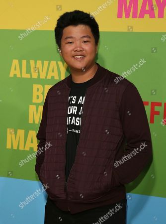 "Hudson Yang arrives at the premiere of ""Always Be My Maybe"", at the Regency Village Theatre in Los Angeles"
