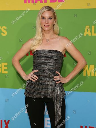 """Heather Morris arrives at the premiere of """"Always Be My Maybe"""", at the Regency Village Theatre in Los Angeles"""