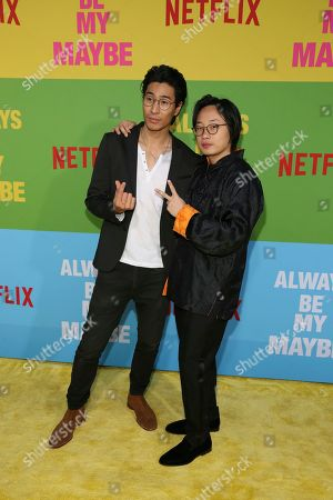 "Chris Pang, Jimmy O. Yang. Chris Pang, left, and Jimmy O. Yang arrive at the premiere of ""Always Be My Maybe"", at the Regency Village Theatre in Los Angeles"
