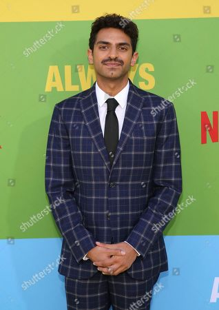 """Karan Soni arrives at the premiere of """"Always Be My Maybe"""", at the Regency Village Theatre in Los Angeles"""