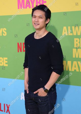 """Stock Picture of Harry Shum Jr. arrives at the premiere of """"Always Be My Maybe"""", at the Regency Village Theatre in Los Angeles"""