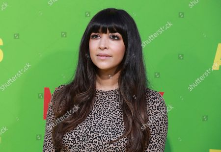 """Hannah Simone arrives at the premiere of """"Always Be My Maybe"""", at the Regency Village Theatre in Los Angeles"""