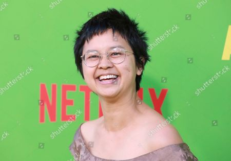 "Charlyne Yi arrives at the premiere of ""Always Be My Maybe"", at the Regency Village Theatre in Los Angeles"
