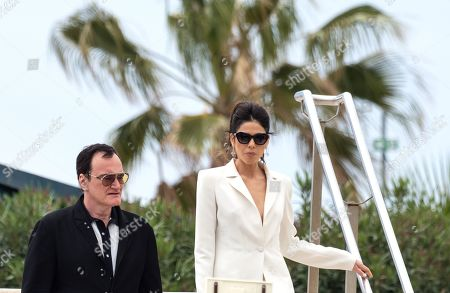 Quentin Tarantino and Daniella Pick out and about, 72th Cannes Film Festival