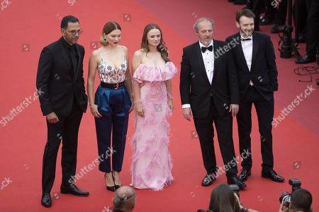 Antoine Reinartz, Sara Forestier, Arnaud Desplechin, Lea Seydoux and Roschdy Zem