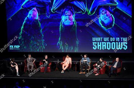 Stock Image of Kristen Schaal, Taika Waititi, Paul Simms, Stefani Robinson, Matt Berry, Harvey Guillen, Mark Proksch