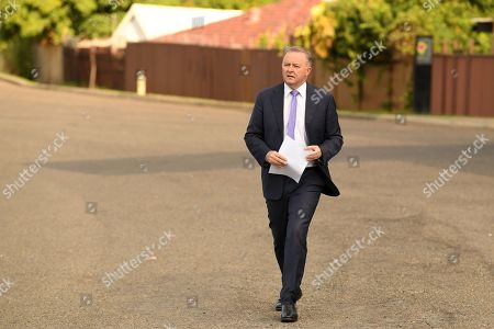 Labor leader contender and member for Grayndler Anthony Albanese arrives to speak to the media in Sydney, Australia, 23 May 2019. Mr Albanese is currently running unopposed for the Labor leadership after Jim Chalmers announced he would not run. This follows the announcement by Labor leader Bill Shorten has said he is standing down following Labor's shock result, loosing out to the Liberal Party coalition' in the 18 May 2019 general election.