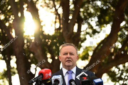 Labor leader contender and member for Grayndler Anthony Albanese speaks to the media in Sydney, Australia, 23 May 2019. Mr Albanese is currently running unopposed for the Labor leadership after Jim Chalmers announced he would not run. This follows the announcement by Labor leader Bill Shorten has said he is standing down following Labor's shock result, loosing out to the Liberal Party coalition' in the 18 May 2019 general election.