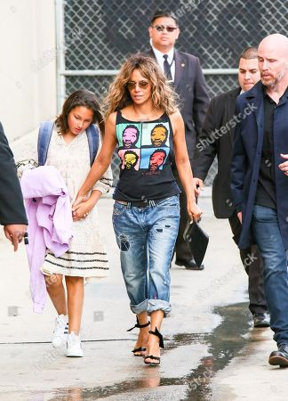 Stock Picture of Halle Berry and daughter Nahla Aubry