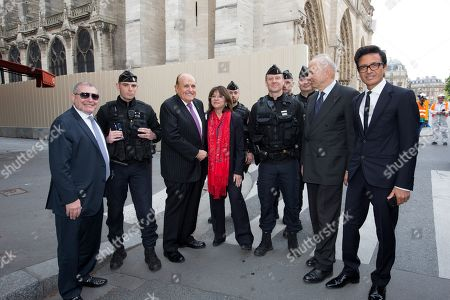 Nathalie Goulet, Rudy Giuliani, General Jean-Louis Georgelin and Omar Harfouch